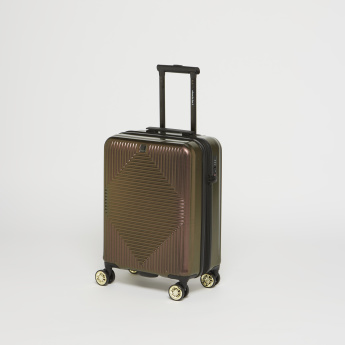 Duchini Textured Hard Case Trolley Bag with Wheels