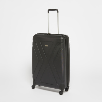 Duchini Textured Hard Case Trolley Bag with Cushion Handle - Set of 3
