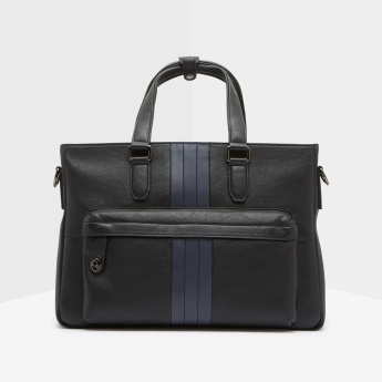 Duchini Portfolio Bag with Twin Handles and Adjustable Strap