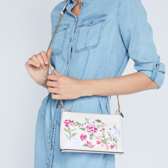 Missy Floral Embroidered Crossbody Bag