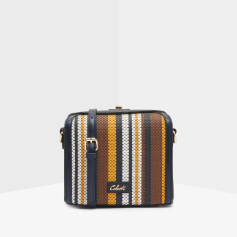 Celeste Striped and Textured Crossbody Bag