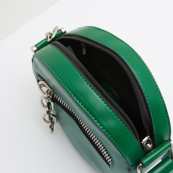Missy Round Crossbody Bag with Zip Closure