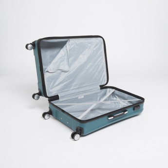 IT Textured Hard Case Luggage Trolley Bag with Retractable Handle