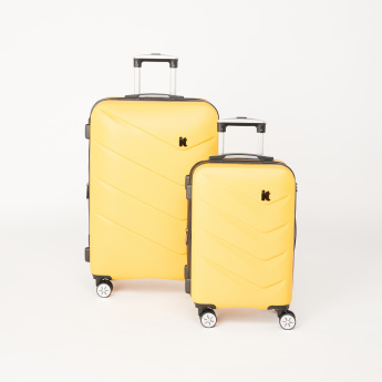 IT luggage Textured Hard Case Trolley Bag with Zip Closure