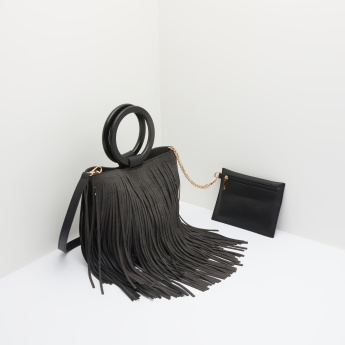 Missy Crossbody Bag with Fringes