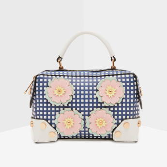 Missy Crossbody Bag with Flower Patches