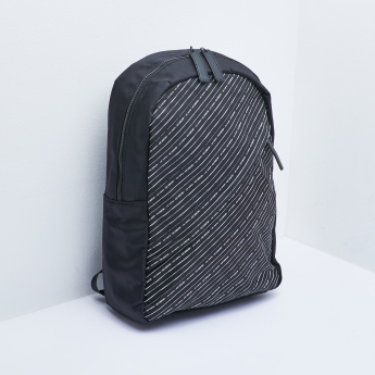 Lee Cooper Striped Backpack with Adjustable Straps