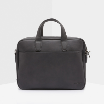 Duchini Textured Laptop Bag with Zip Closure