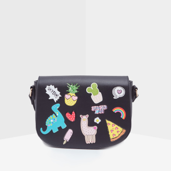 Missy Crossbody Bag with Applique Patches