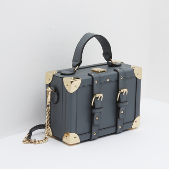 Missy Buckle Detail Crossbody Suitcase Bag