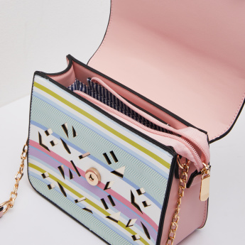 Missy Laser Cut Striped Crossbody Bag