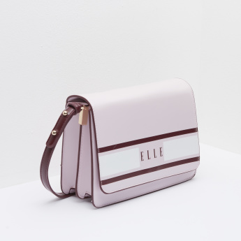 ELLE Striped Shoulder Bag