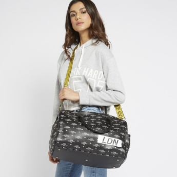 Lee Cooper Printed Duffle Bag with Twin Handles