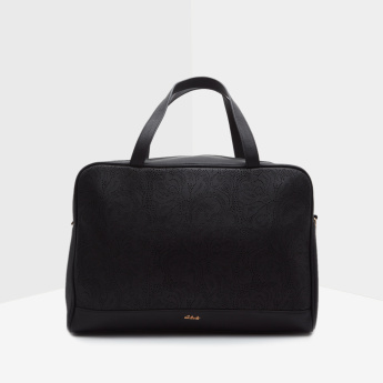 Celeste Textured Duffle Bag with Detachable Sling Strap