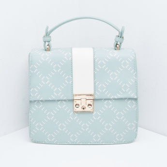 ELLE Printed Satchel Bag