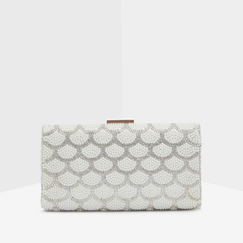 Celeste Embellished Clutch Bag with Crossbody Chain Strap