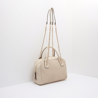 Celeste Quilted Bowler Bag with Zip Closure