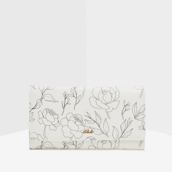 Celeste Floral Printed Wallet with Chain Strap