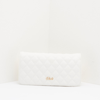 Celeste Quilted Satchel Bag with Snap Button Closure