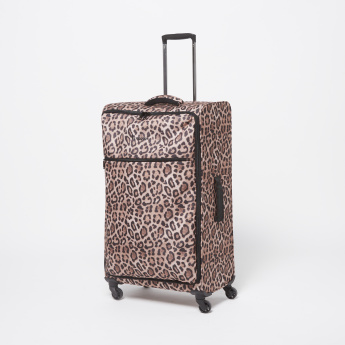 IT Animal Print Travel Soft Case Trolley with Retractable Handle