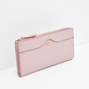 Celeste Textured Bi-Fold Wallet with Snap Button Closure