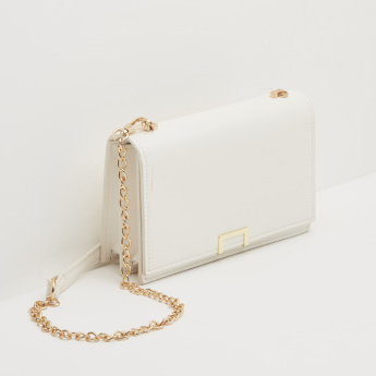 Celeste Textured Sling Bag with Detachable Chain Strap