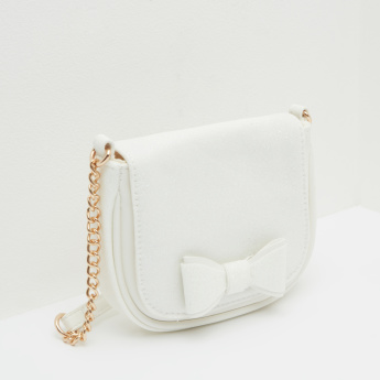 Bow Detail Satchel Bag with Magnetic Snap Closure
