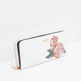 ELLE Wallet with Patch Work