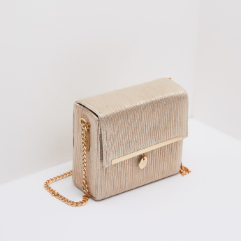 Celeste Textured Box Bag with Chain Strap