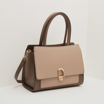 Celeste Satchel Bag with Zip Closure