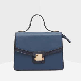 Celeste Satchel Bag with Press and Lock Closure