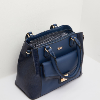 Celeste Panelled Handbag with Detachable Sling Strap