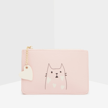 Missy Printed Wallet with Charm Detail