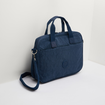 Missy Printed Laptop Bag with Dual Top Handle and Adjustable Strap