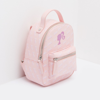 Barbie Printed Backpack with Zip Closure