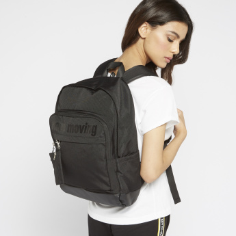 ANTA Printed Backpack with Adjustable Shoulder Straps and Zip Closure