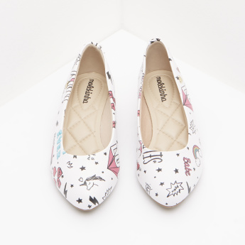Molekinha Printed Ballerina Shoes