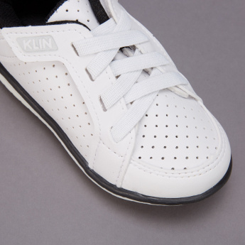 Klin Laser Cut Detail Sneakers with Hook and Loop Closure