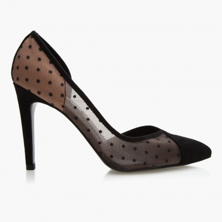 Celeste Polka Dotted Heel Shoes