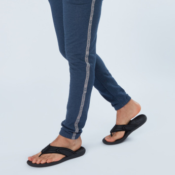 39678864772d Kappa Textured Flip Flops with Stitch Detail Straps