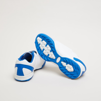 Kappa Printed Football Shoes with Hook and Loop Closure