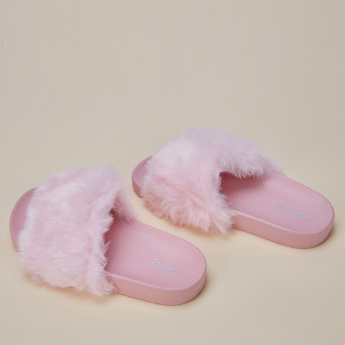 Little Missy Plush Detail Slides