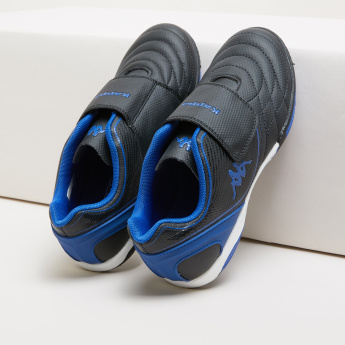 Kappa Quilted Football Shoes with Hook and Loop Closure