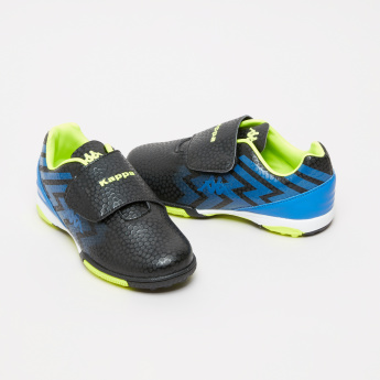 Kappa Textured Football Shoes with Hook and Loop Closure