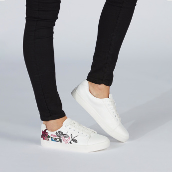 Missy Embroidered Lace-Up Shoes