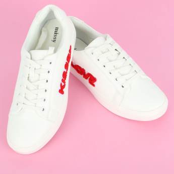Missy Applique Detail Lace-Up Sneakers