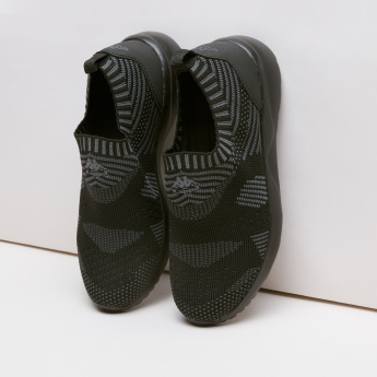 Kappa Textured Slip-On Shoes with Elasticised Collar