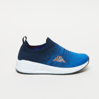 Kappa Slip-On Sneakers with Ribbed Collar