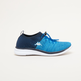 Kappa Textured Running Shoes with Drawstring Closure