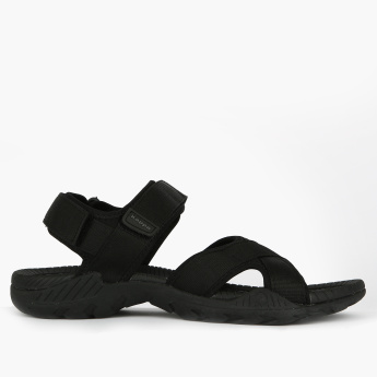 Kappa Cross Strap Floaters with Hook and Loop Closure